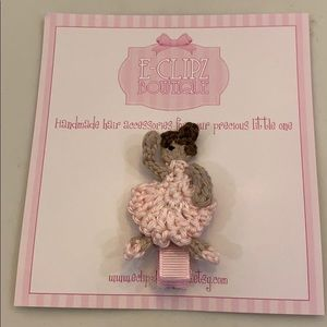 New ballerina hair clip for babies/toddlers/girls